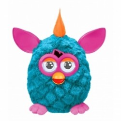 New Furby cool blue body, Neon pink ears and feet.